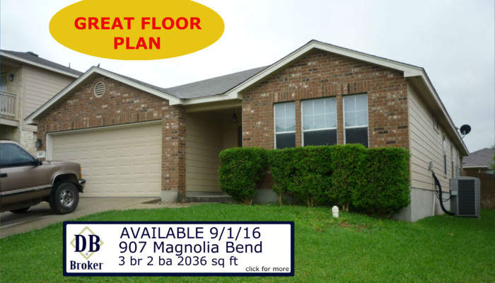 907 MAGNOLIA BEND - FOR RENT
