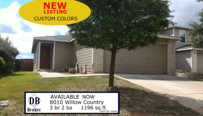 8010 WILLOW COUNTRY SAN ANTONIO TX 78254