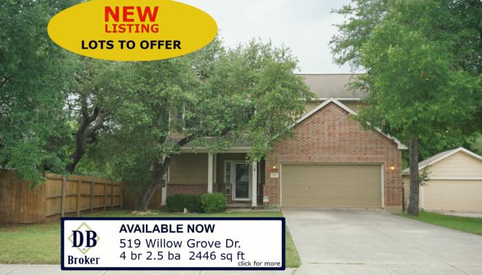 519 WILLOW GROVE DR SAN ANTONIO TX 78245